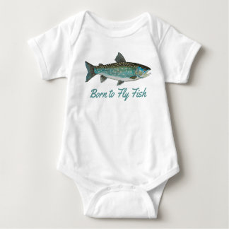 "Body Para Bebê ""Nascer para voar pesca cómico dos peixes"""