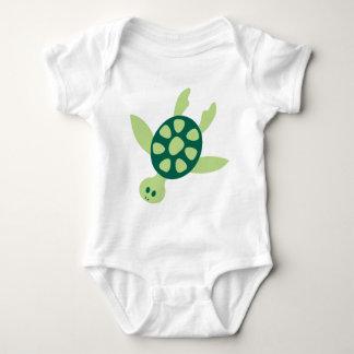 Body Para Bebê Natação da tartaruga verde