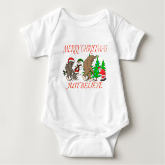 Body Para Bebê Natal 2 da família de Bigfoot
