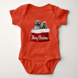 Body Para Bebê Natal do Bodysuit do bebê do tzu de Shih