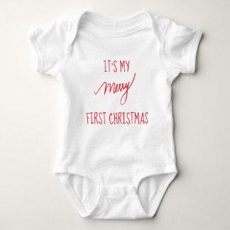 Body Para Bebê Natal moderno do Natal   do bebê primeiro ø
