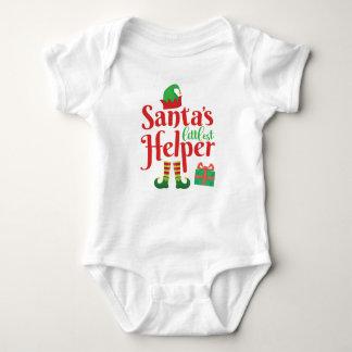 Body Para Bebê Natal pequeno do feriado do ajudante | do papai