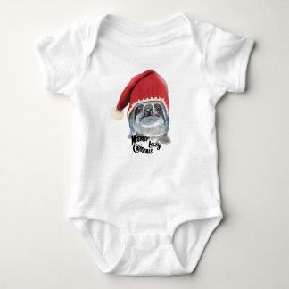 Body Para Bebê Natal preguiçoso alegre