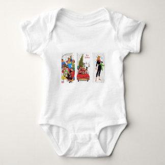 Body Para Bebê natal vintage rockabilly
