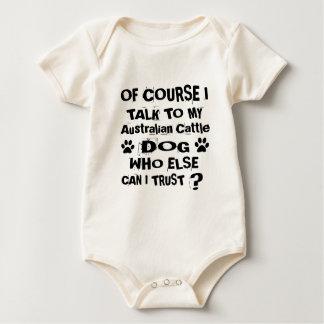 Body Para Bebê Naturalmente eu falo a meu cão australiano D do