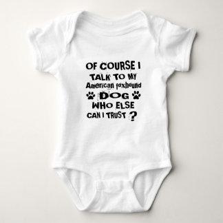 Body Para Bebê Naturalmente eu falo a meu cão Desig do foxhound
