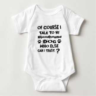 Body Para Bebê Naturalmente eu falo a meu design do cão do