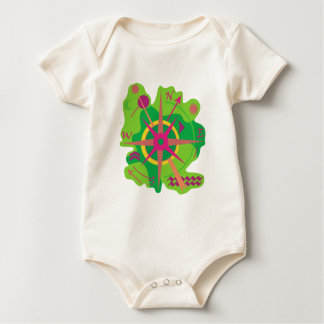 Body Para Bebê Navegação - verde