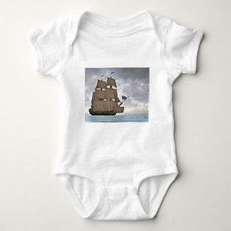Body Para Bebê Navigação Corveta em um dia lindo