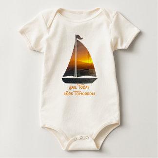 Body Para Bebê Navigação no por do sol