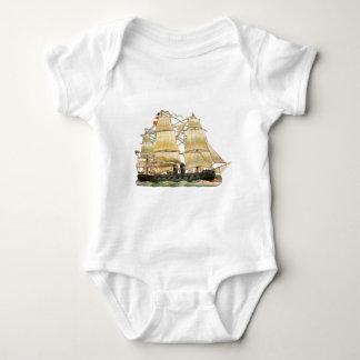 Body Para Bebê Navio antigo