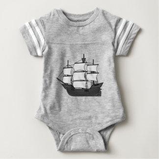 Body Para Bebê Navio da vela