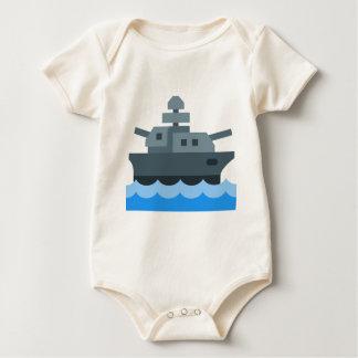 Body Para Bebê Navio de guerra