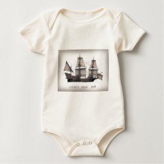 Body Para Bebê Navio de Hinde do ouro 1578