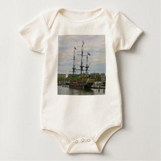 Body Para Bebê Navio de navigação velho, Amsterdão, Holland