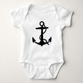 Body Para Bebê Navio de pirata do explorador do mar da âncora da