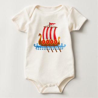 Body Para Bebê Navio de Viking
