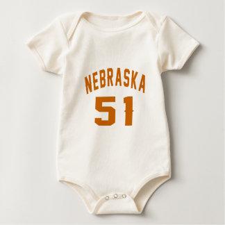 Body Para Bebê Nebraska 51 designs do aniversário