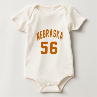 Body Para Bebê Nebraska 56 designs do aniversário