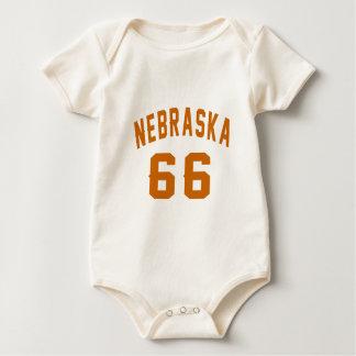 Body Para Bebê Nebraska 66 designs do aniversário