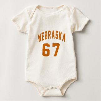 Body Para Bebê Nebraska 67 designs do aniversário