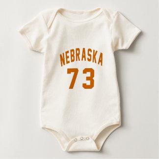 Body Para Bebê Nebraska 73 designs do aniversário