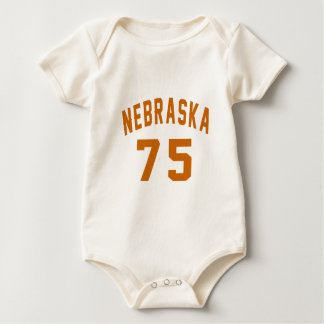 Body Para Bebê Nebraska 75 designs do aniversário