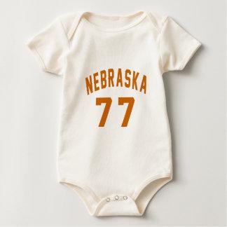 Body Para Bebê Nebraska 77 designs do aniversário