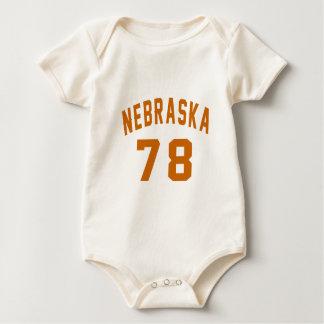Body Para Bebê Nebraska 78 designs do aniversário