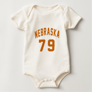 Body Para Bebê Nebraska 79 designs do aniversário