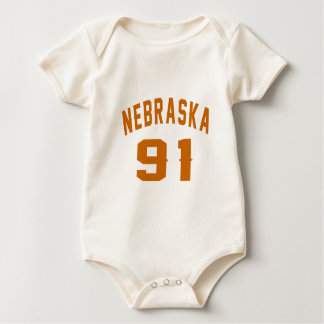 Body Para Bebê Nebraska 91 designs do aniversário
