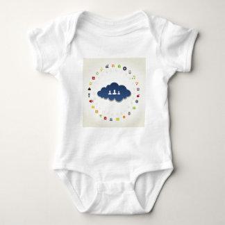 Body Para Bebê Negócio uma nuvem