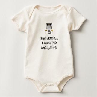 Body Para Bebê Nenhum bebê do piloto automático cresce