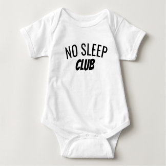Body Para Bebê Nenhum Bodysuit do bebê do clube | do sono