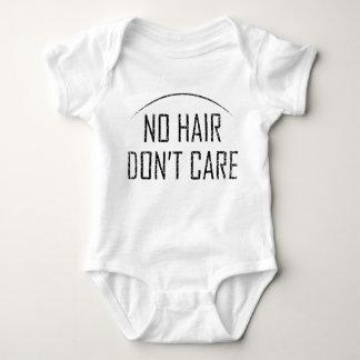 Body Para Bebê Nenhum cabelo não se importa