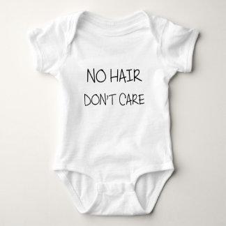 Body Para Bebê Nenhum cabelo não se importa o Bodysuit do bebê
