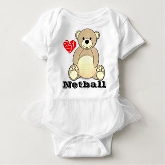 Body Para Bebê Netball feito sob encomenda do amor do impressão
