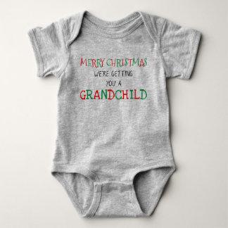 Body Para Bebê Neto para o Natal