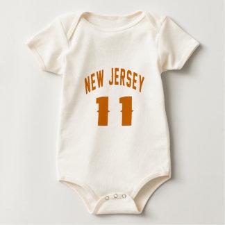 Body Para Bebê New-jersey 11 designs do aniversário