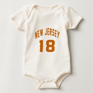 Body Para Bebê New-jersey 18 designs do aniversário
