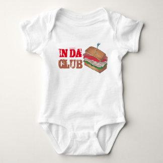 Body Para Bebê No comensal engraçado de Foodie do sanduíche de