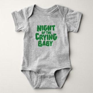 Body Para Bebê Noite do design de grito do t-shirt do bebê