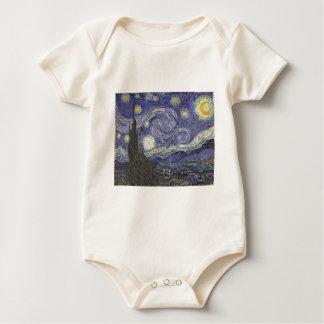 Body Para Bebê Noite estrelado
