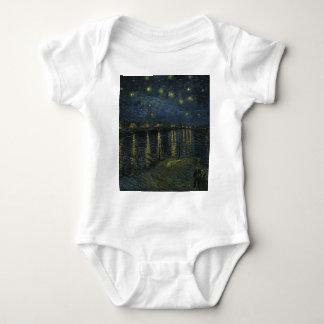 Body Para Bebê Noite estrelado de Vincent van Gogh sobre a arte