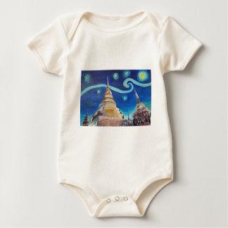 Body Para Bebê Noite estrelado em inspirações de Tailândia - de