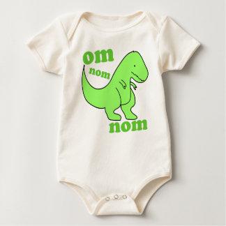 Body Para Bebê nom do nom do OM do dinossauro do bebê
