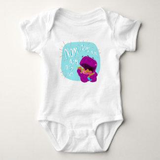 Body Para Bebê Nom Nom Nom! Bodysuit do bebê do monstro