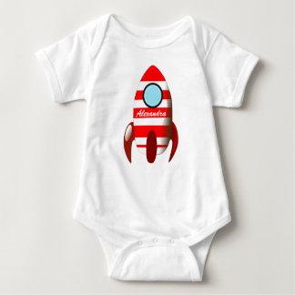 Body Para Bebê Nome do bebê no espaço Rocket