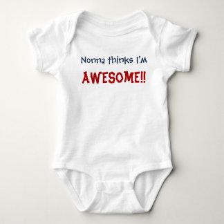 Body Para Bebê Nonna pensa que eu sou impressionante! Bodysuit da