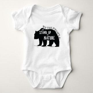 Body Para Bebê Nós que as pessoas representam acima a natureza -